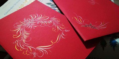 regali di natale e calligrafia