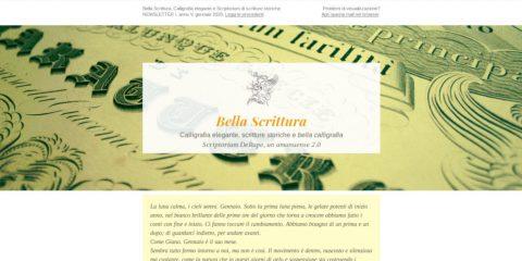 newsletter sito di calligrafia