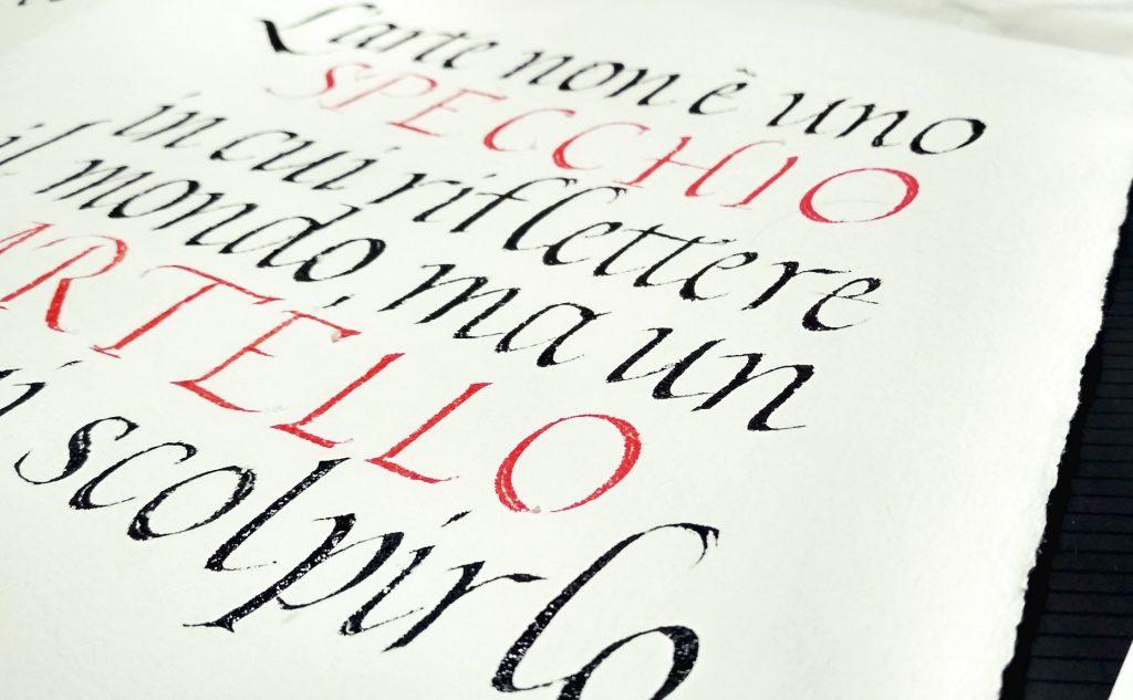 25 aprile calligrafia