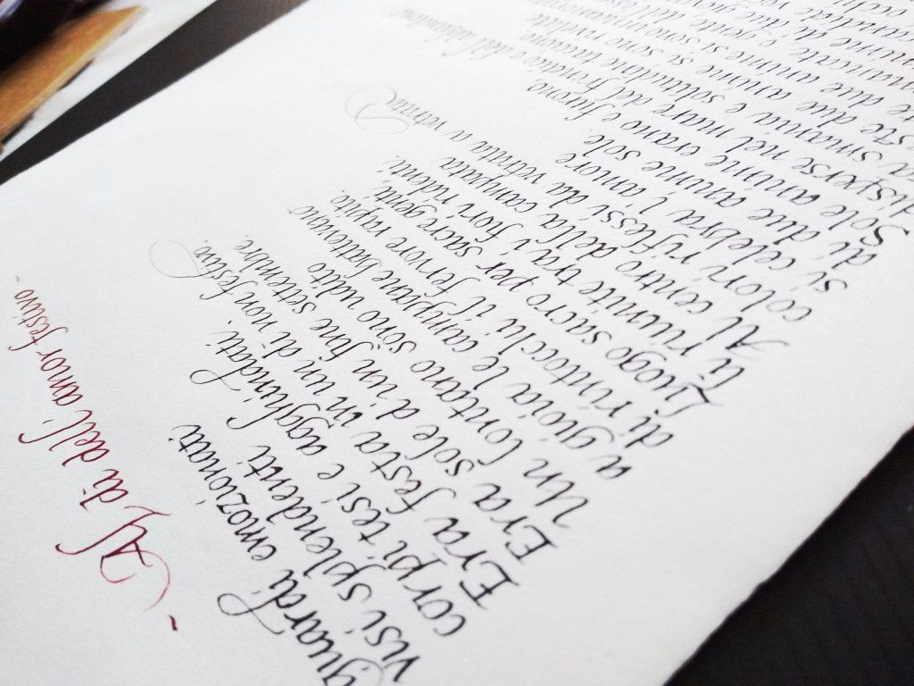 pergamena scritta a mano